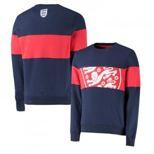 England Cut & Sew Crew Neck Sweat - Navy - Mens