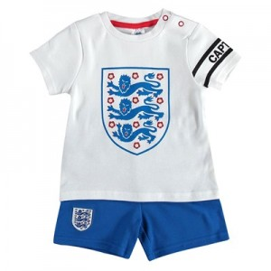 England Kit T-Shirt and Shorts Set - White/Blue