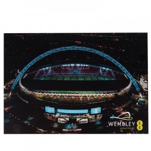 England Night View Wembley Card