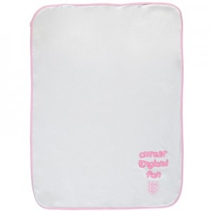 England Cutest England Fan Baby Blanket - White/pink