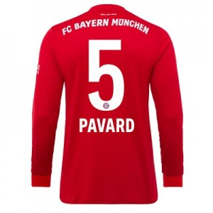 FC Bayern Home Long Sleeve Shirt 2019-20 with Pavard 5 printing