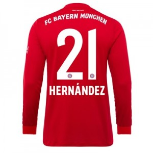 FC Bayern Home Long Sleeve Shirt 2019-20 with Hernández 21 printing
