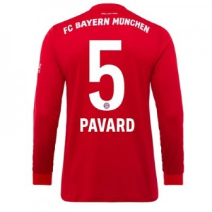FC Bayern Home Long Sleeve Shirt 2019-20 - Kids with Pavard 5 printing