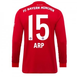 FC Bayern Home Long Sleeve Shirt 2019-20 - Kids with Arp 15 printing