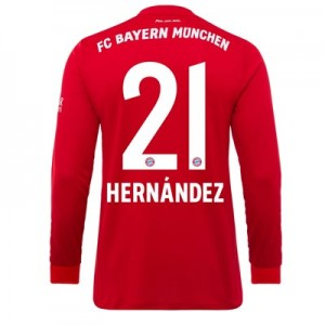 FC Bayern Home Long Sleeve Shirt 2019-20 - Kids with Hernández 21 printing