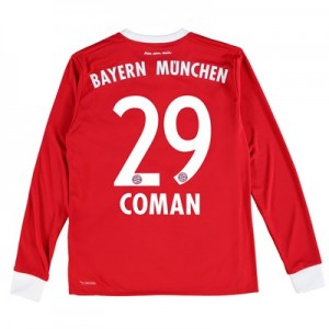 Bayern Munich Home Shirt 2017-18 - Kids - Long Sleeve with Coman 29 printing