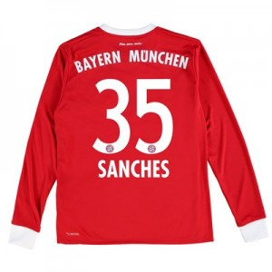 Bayern Munich Home Shirt 2017-18 - Kids - Long Sleeve with Sanches 35 printing