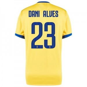 Juventus Away Shirt 2017-18 - Kids with Dani Alves 23 printing