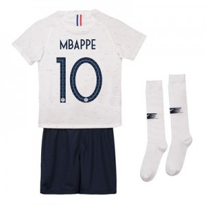 France Away Stadium Kit 2018 - Infants with Mbappe 10 printing