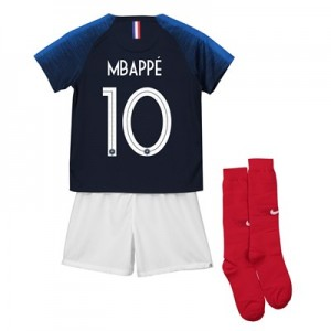 France Home Stadium Kit 2018 - Infants with Mbappe 10 printing