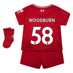 Liverpool Home Baby Kit 2018-19 with Woodburn 58 printing