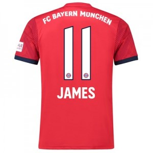 Bayern Munich Home Shirt 2018-19 with James 11 printing