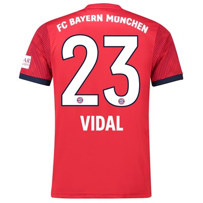 Bayern Munich Home Shirt 2018-19 with Vidal 23 printing