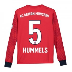 Bayern Munich Home Shirt 2018-19 - Kids - Long Sleeve with Hummels 5 printing