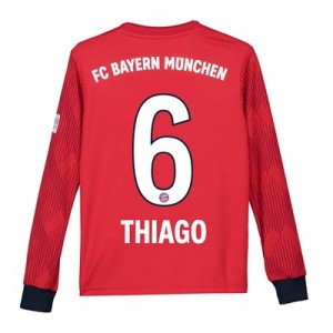 Bayern Munich Home Shirt 2018-19 - Kids - Long Sleeve with Thiago 6 printing
