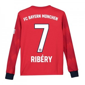 Bayern Munich Home Shirt 2018-19 - Kids - Long Sleeve with Ribéry 7 printing