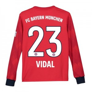 Bayern Munich Home Shirt 2018-19 - Kids - Long Sleeve with Vidal 23 printing