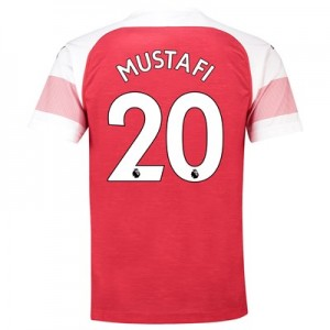 Arsenal Home Shirt 2018-19 - Outsize with Mustafi 20 printing