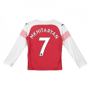 Arsenal Home Shirt 2018-19 - Kids - Long Sleeve with Mkhitaryan 7 printing