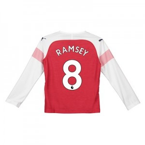 Arsenal Home Shirt 2018-19 - Kids - Long Sleeve with Ramsey 8 printing