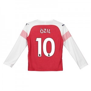 Arsenal Home Shirt 2018-19 - Kids - Long Sleeve with Özil 10 printing