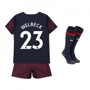 Arsenal Away Mini Kit 2018-19 with Welbeck 23 printing