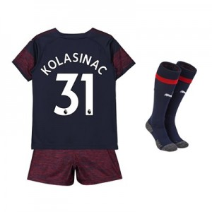 Arsenal Away Mini Kit 2018-19 with Kolasinac 31 printing