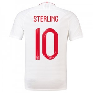England Home Vapor Match Shirt 2018 with Sterling 10 printing