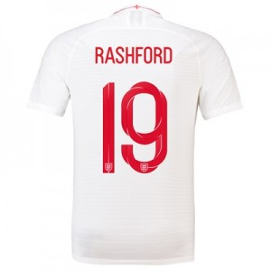England Home Vapor Match Shirt 2018 with Rashford 19 printing