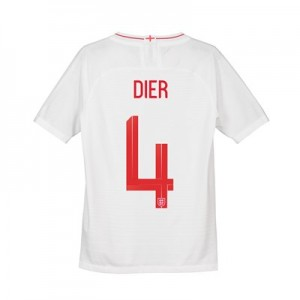 England Home Vapor Match Shirt 2018 - Kids with Dier 4 printing