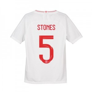 England Home Vapor Match Shirt 2018 - Kids with Stones 5 printing