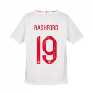 England Home Vapor Match Shirt 2018 - Kids with Rashford 19 printing