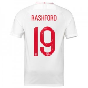 England Home Stadium Shirt 2018 with Rashford 19 printing