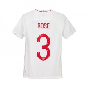 England Home Stadium Shirt 2018 - Kids with Rose 3 printing