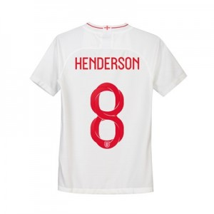 England Home Stadium Shirt 2018 - Kids with Henderson 8 printing