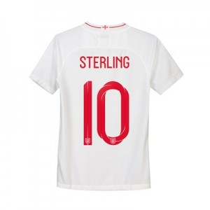 England Home Stadium Shirt 2018 - Kids with Sterling 10 printing