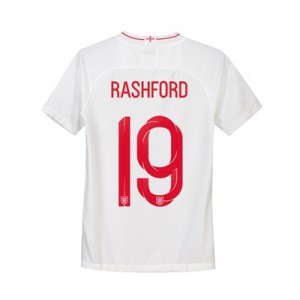 England Home Stadium Shirt 2018 - Kids with Rashford 19 printing