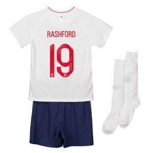 England Home Stadium Kit 2018 - Infants with Rashford 19 printing