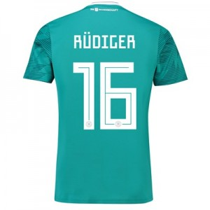 Germany Away Shirt 2018 with Rudiger 16 printing