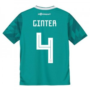 Germany Away Shirt 2018 - Kids with Ginter 4 printing