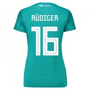 Germany Away Shirt 2018 - Womens with Rudiger 16 printing