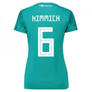Germany Away Shirt 2018 - Womens with Kimmich 6 printing