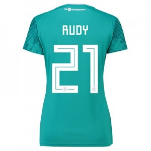 Germany Away Shirt 2018 - Womens with Rudy 21 printing