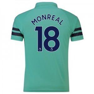 Arsenal Third Shirt 2018-19 - Outsize with Monreal 18 printing