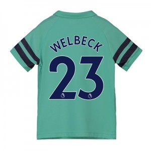 Arsenal Third Shirt 2018-19 - Kids with Welbeck 23 printing
