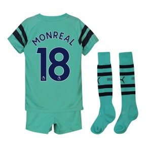Arsenal Third Mini Kit 2018-19 with Monreal 18 printing