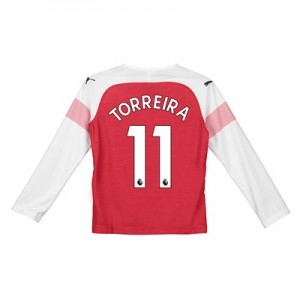Arsenal Home Shirt 2018-19 - Kids - Long Sleeve with Torreira 11 printing