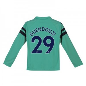 Arsenal Third Shirt 2018-19 - Kids - Long Sleeve with Guendouzi  29 printing