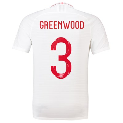 England Home Vapor Match Shirt 2018 with Greenwood 3 printing
