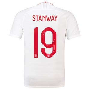 England Home Vapor Match Shirt 2018 with Stanway 19 printing